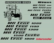 MB Trac 65/70 Beschriftung