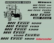 MB Trac 900 Beschriftung