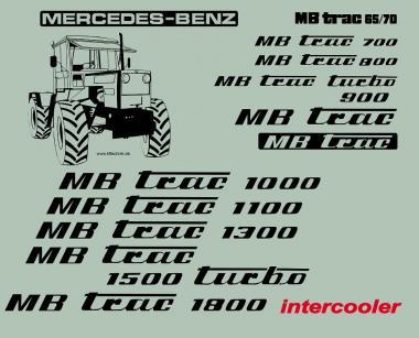 MB Trac 700 - Schrift wie 65/70 Beschriftung